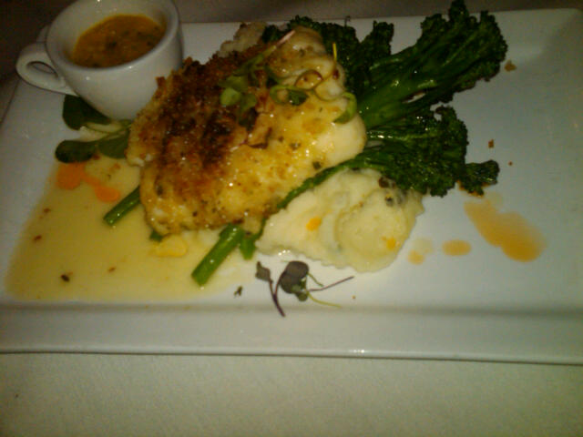 Macademia crusted halibut Riverhorse on Main Always the Same: Fabulous