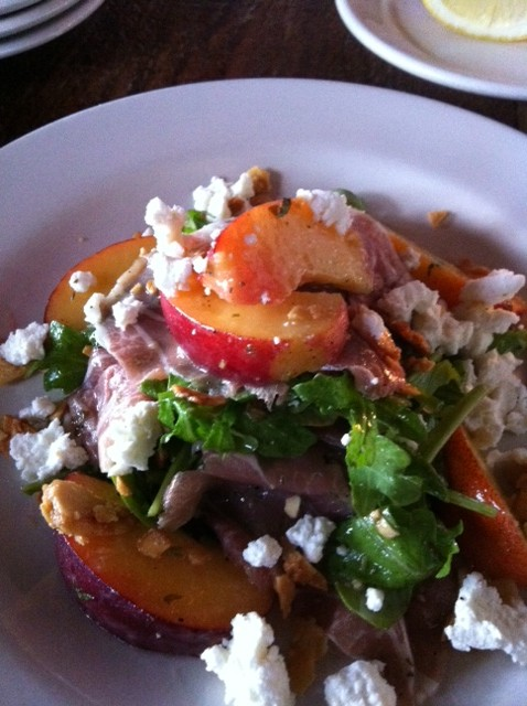 Peach Prosciutto Salad e1306701688266 Bank on Bankers Hill:  Great Fun, Great Food, Great Prices