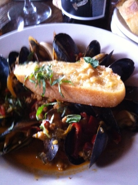Steamed Mussels Italian Sausage e1306701498676 Bank on Bankers Hill:  Great Fun, Great Food, Great Prices