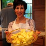 Nance Hochberg prepares the Apples for the Tarte Tatin