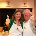 "Sue Burgess and Mark Wiggins enjoy the cooking challenge 150x150 ""Being Comforted"""