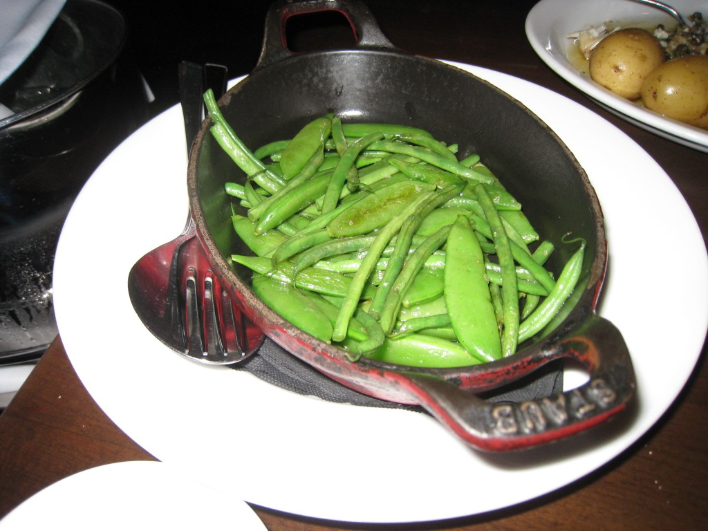 Grean beans and sugar snap peas