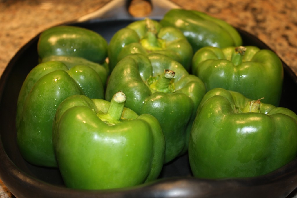 Green Peppers for Stuffing