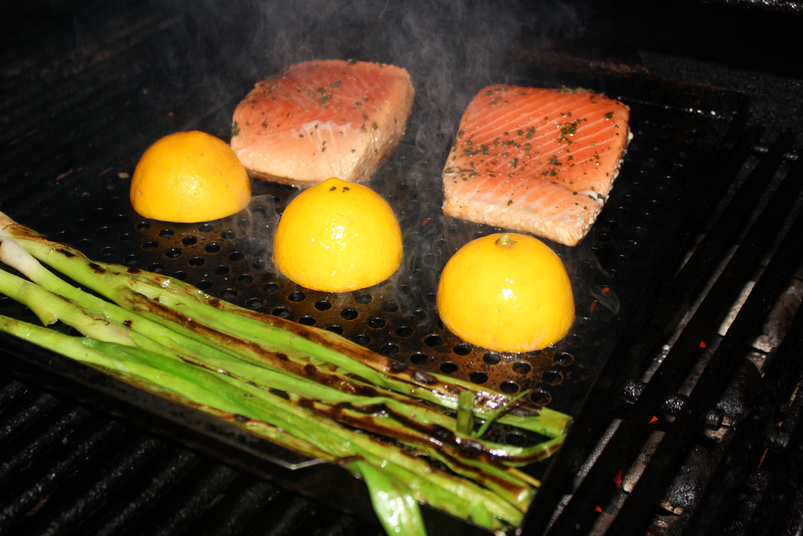 how to cook green onions on the grill