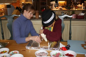 Becca and Retta are busy constructing holiday memories