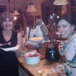 Joan and Ashley w Chocolate Fountain 150x150 Almond Biscotti Visits Fountain of Chocolate