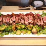 Grilled Steaks with Brussels Sprouts and Balsamic Red Onions 150x150 Secrets of the CIA:  Team Cooking by AIWF Members from Across the Country
