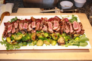 Grilled Steaks with Brussels Sprouts and Balsamic Red Onions 300x200 Secrets of the CIA:  Team Cooking by AIWF Members from Across the Country