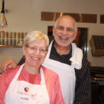 Karin and Gary happy in the kitchen 150x150 Secrets of the CIA:  Team Cooking by AIWF Members from Across the Country