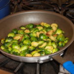 Pan Roasted Brussels Sprouts 150x150 Secrets of the CIA:  Team Cooking by AIWF Members from Across the Country