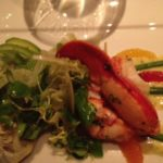 Lobster Salad with Avocado, Citrus, Shaved Fennel, Baby Artichokes and Mustard-Tarragon Vinaigrette
