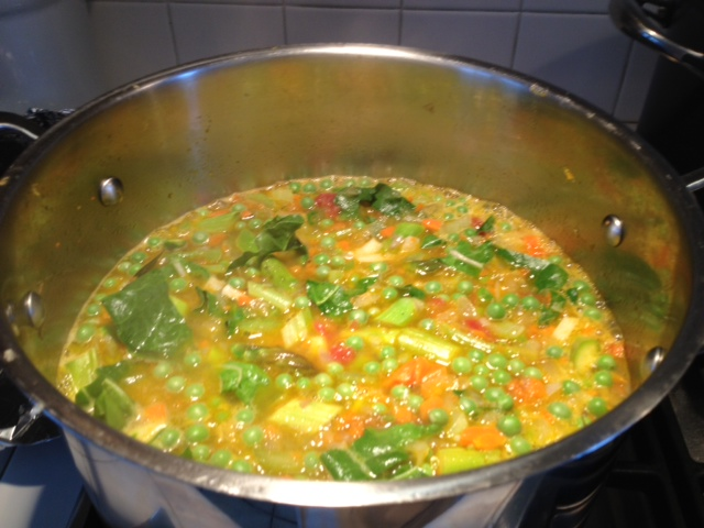 Vegetable Soup Cooking Souped Up for Snow:  Spring Vegetable Soup