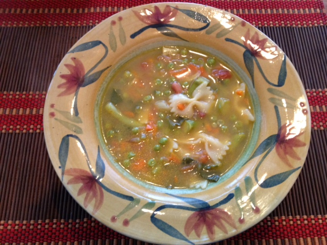 Souped Up for Snow:  Spring Vegetable Soup