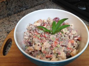 Chicken salad 300x225 Pick This for Your Picnic: Chicken Salad with Toasted Pecans and Grapes