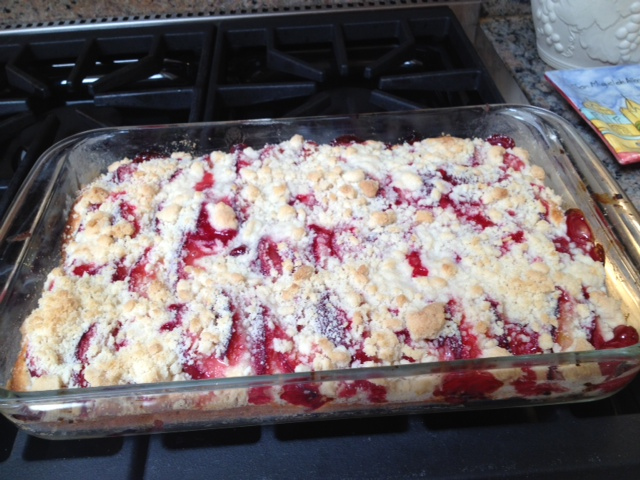 Irma's Greatest Hits:  Plum Streusel Cake