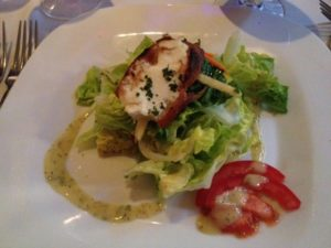 Bibb Lettuce with Goat Cheese Gratinee and Tarragon Vinaigrette