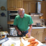 Sam prepares salmon 150x150 The Paper Boy Delivers:  Parchment Paper Wrapped Salmon