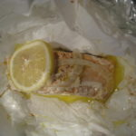 Unwrap baked salmon 150x150 The Paper Boy Delivers:  Parchment Paper Wrapped Salmon