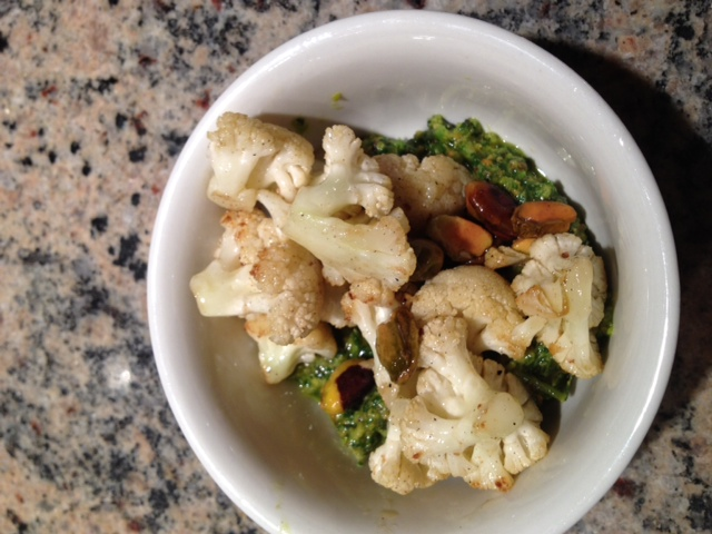 Another St. Regis Recipe To Try at Home:  Caramelized Cauliflower and Pistachio Pesto