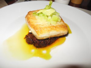 Hawaiian Butterfish, Malaysian Chili Sauce, Thai Basil