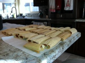 Folded Tamales 300x224 Tamales   A Mexican Christmas Tradition