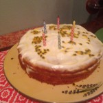 Toasting the Editor-in-Chief: Celebrating Karin's birthday with an elderflower, orange and passion fruit cake